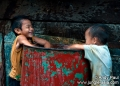 Native Penan children from the interior ...