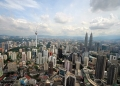 Aerial view of Kuala Lumpur, the capital...