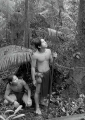 Young Penan hunters in the rainforest.  ...