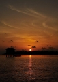 Sunset at Kuala Gula. Situated in the no...