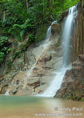 One of the many cascading waterfalls en ...