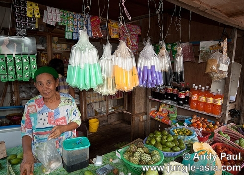 One of the few Bajau grocery shops in Ka...