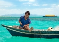 A Bajau Laut from Bodgaya making a fishi...
