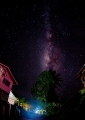 The Milky Way photographed from the vill...