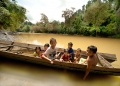Penan children from the interior village...