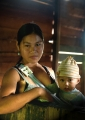 Young Penan mother and child from an int...