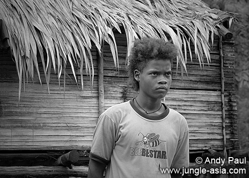 Teenage Jahai boy from Belum rainforest....