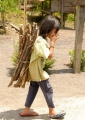 A hard working little Penan (with two di...