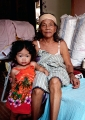 A little Bajau keeps her grandmother com...