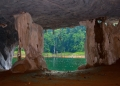 A view of Gua Taat from the inside out. ...