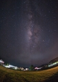 The Milky Way as seen from the village o...